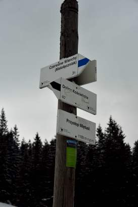 zakopane, tatras, poland, walking trail signs