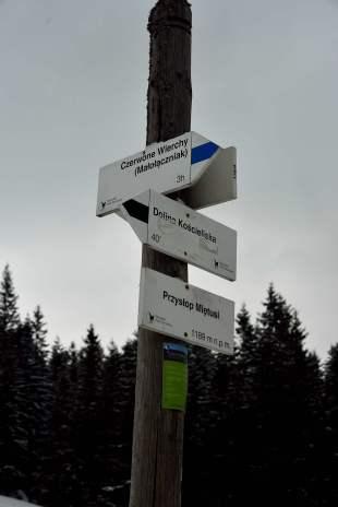 zakopane, tatras, poland, walking trail signs