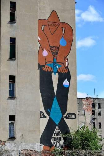 street art, poland, wroclaw, cathedral island