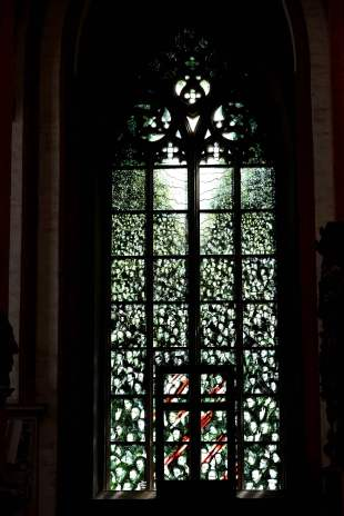 St Elizabeth, poland, wroclaw, leadlight