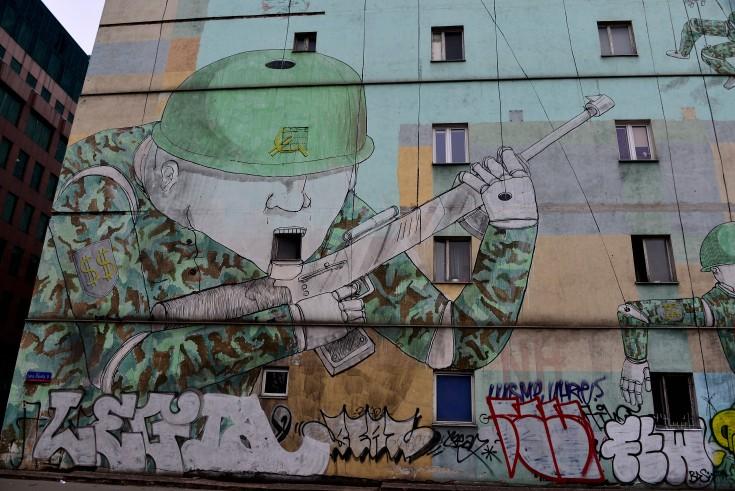 political, street art