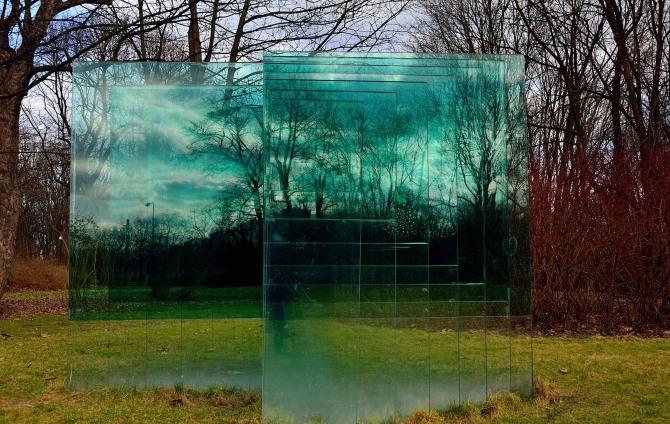 Glass sculpture warsaw