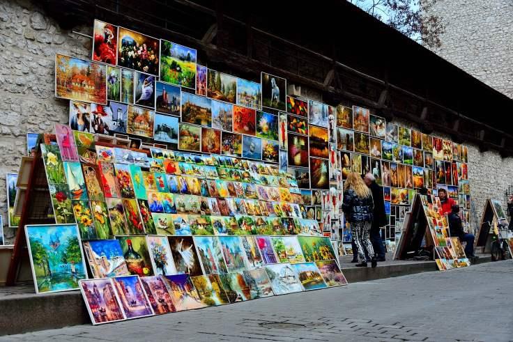 poland, krakow, art, street, old town