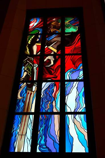 stained glass, poland, krakow, St. Francis Basilica