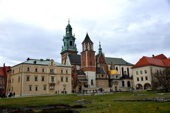 Wawel castle grounds, poland, krakow