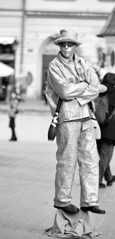 poland, krakow, statue