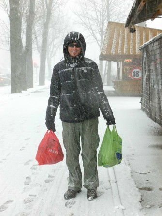 blizzard, zakopane, shopping, poland, tatras