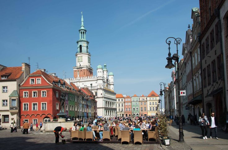 poznan, old town, poland, architecture