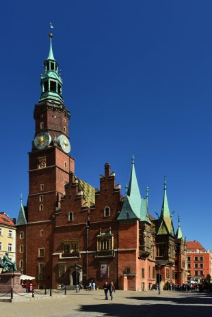 St Elizabeth, wroclaw, poland, market square