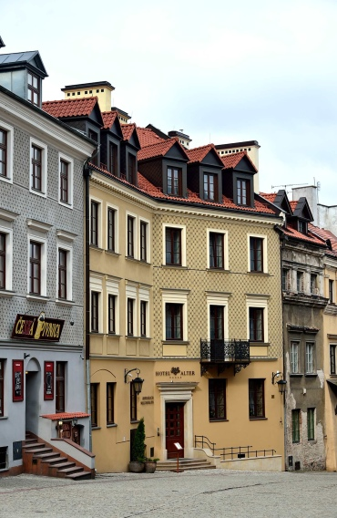 lublin, poland, old town, architecture