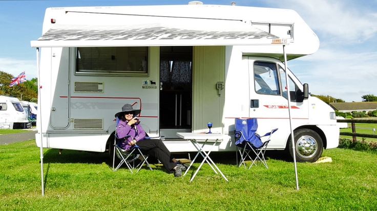 motorhome, Burton Bradstock, UK, camping