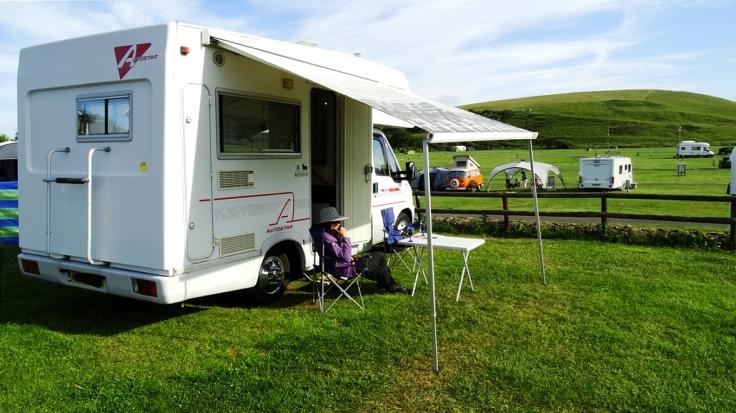 motorhome, Burton Bradstock, UK, camping, touring