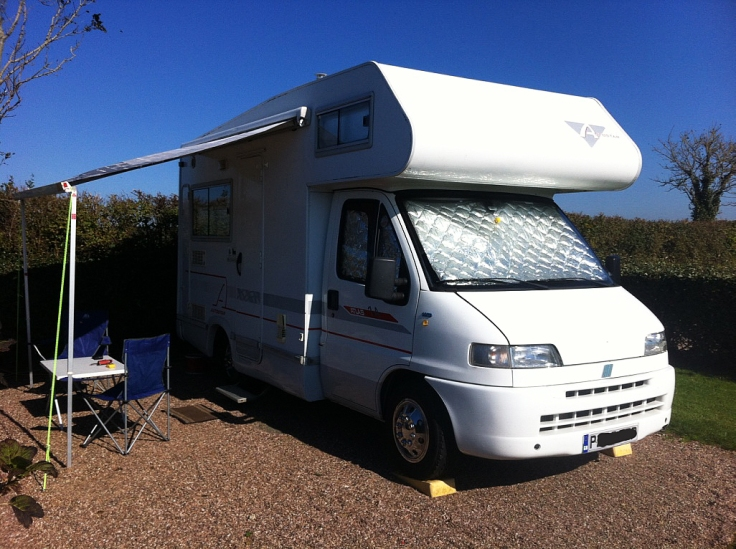 motorhome, UK, Bude, camping, touring