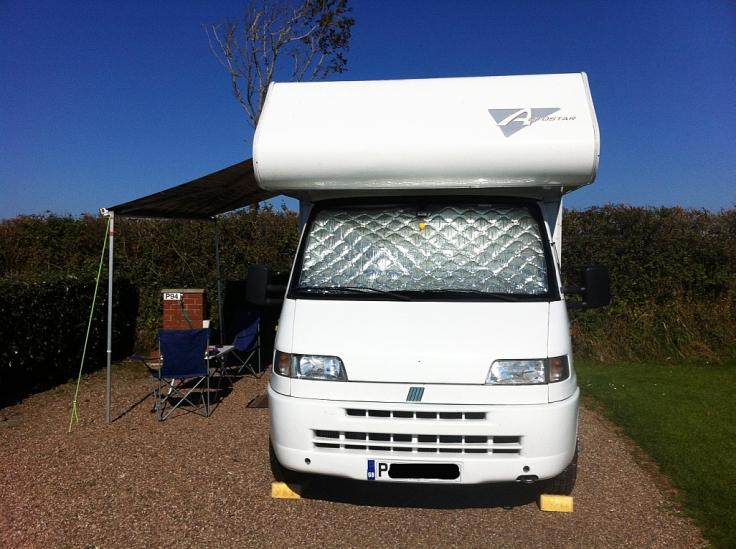 motorhome, Fiat, UK, Bude, camping, touring
