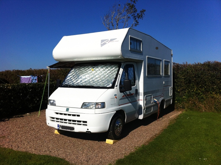 motorhome, Bude, UK, camping, Fiat, touring