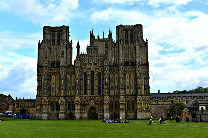 Wells, cathedral, somerset, england