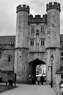 Wells, england, somerset, vicar's hall, gateway