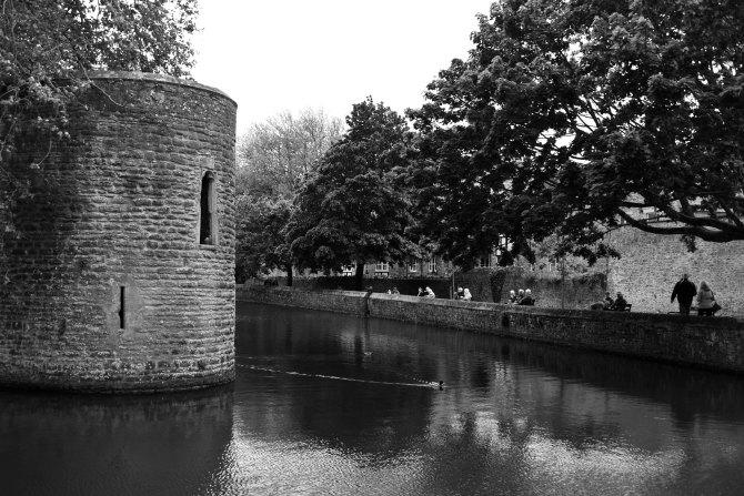 bishops palace, somerset, wells, england