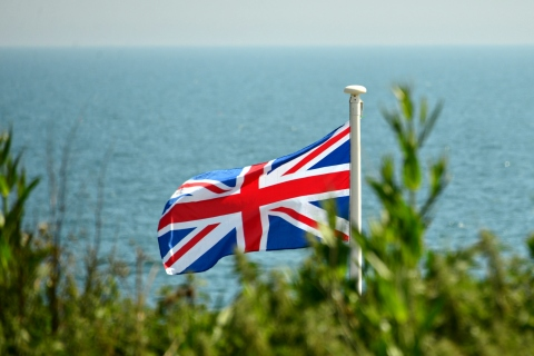 UK flag, Burton Bradstock