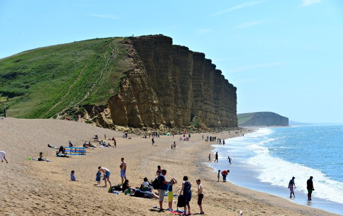 West Bay, UK, Dorset, coastal walk