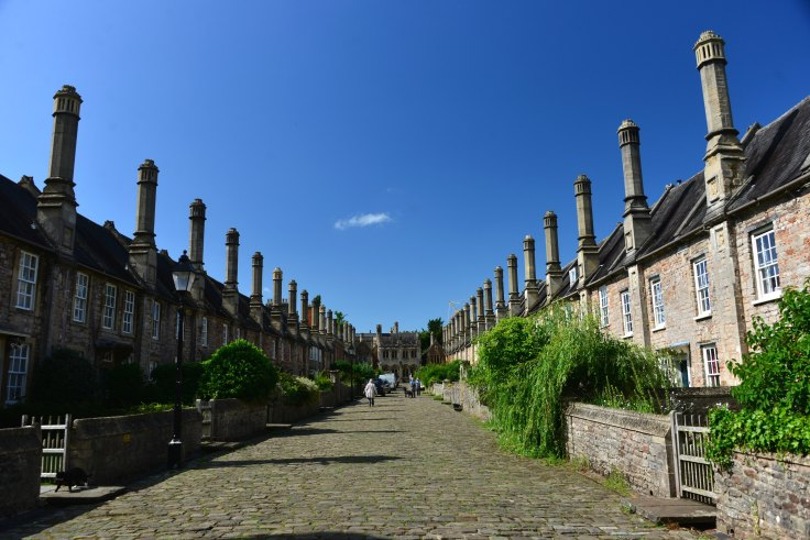 Vicars' Close, Wells, somerset, england