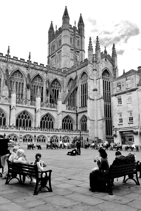 Bath, abbey, somerset, england