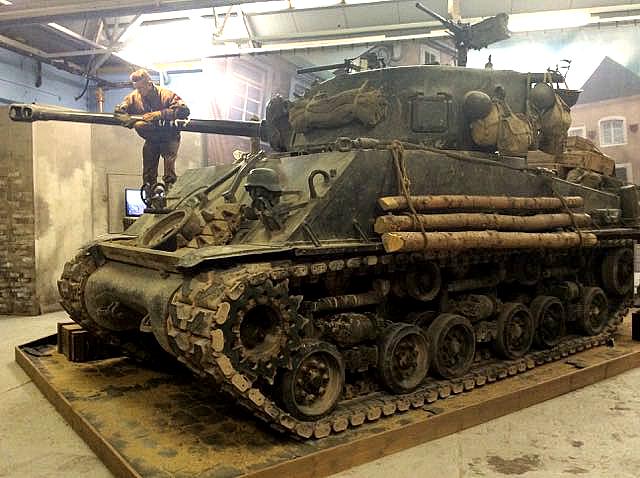 sherman, tank, bovington, england