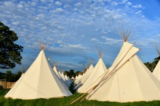 tent, glastonbury, festival, england, somerset