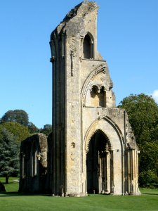 abbey, glastonbury, england