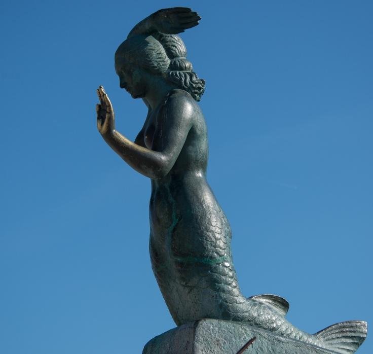mermaid, Sitges, Spain, motorhome