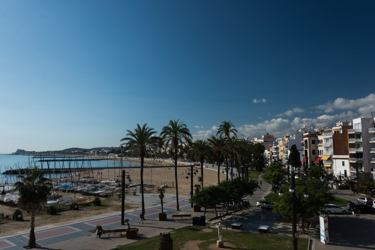 Sitges, Spain, motorhome