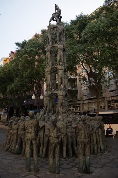 human tower, Tarragona, Spain