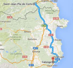 St Jean, Calonge France, Spain, motorhome