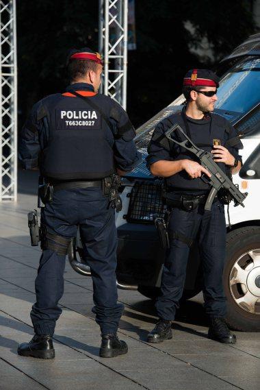 Spain, Barcelona, police