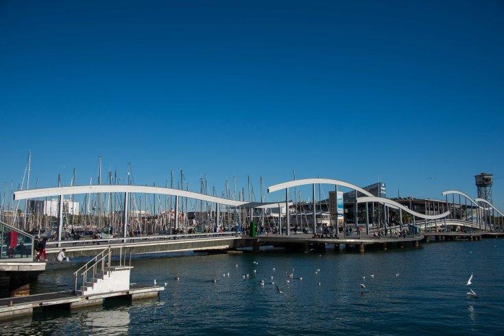 Rambla de Mar, Spain, Barcelona, port