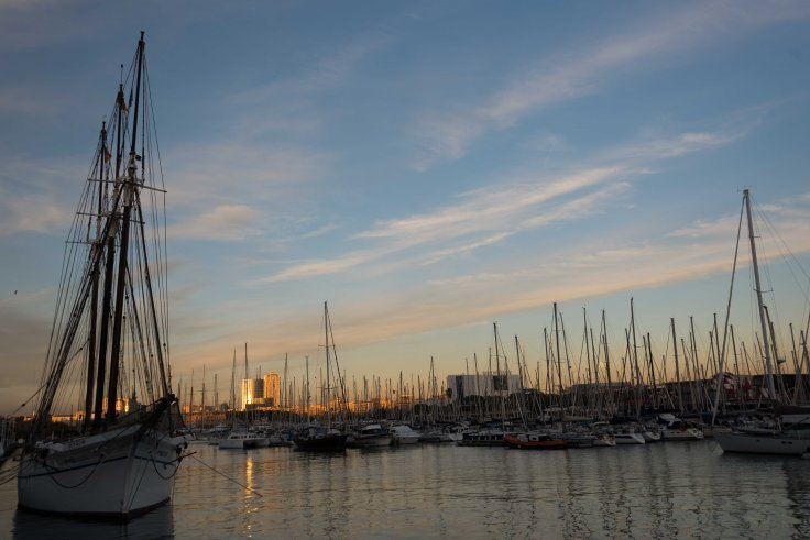 Port Vell, marina, Barcelona, Spain