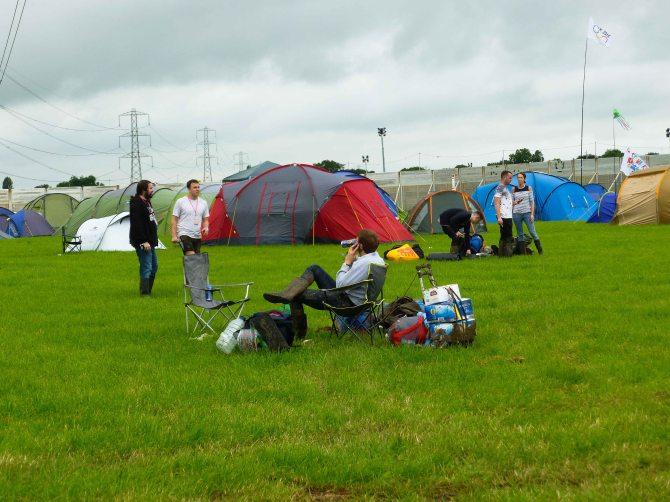 Glastonbury festival, england, motorhome, toilets
