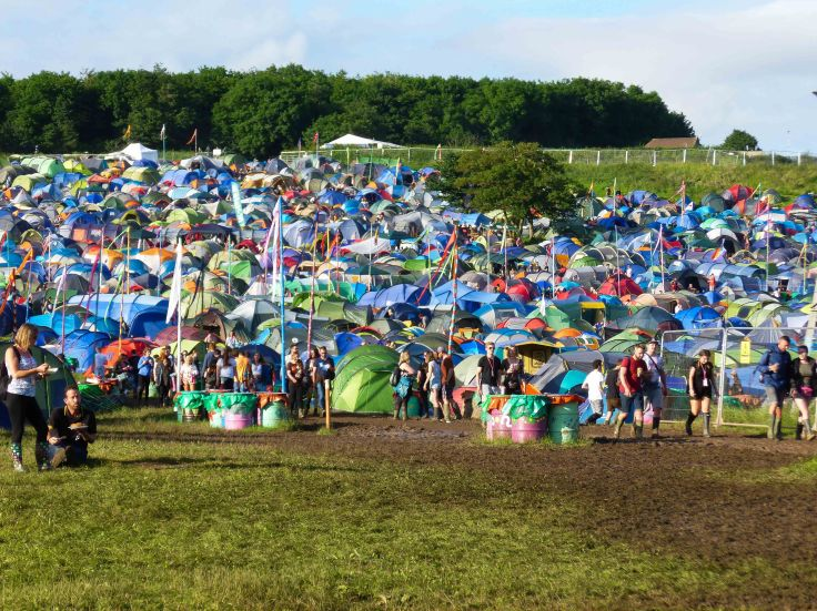 Glastonbury festival, England, motorhome, camping