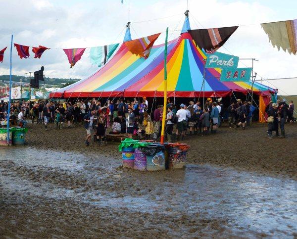 glastonbury festival, england, touring