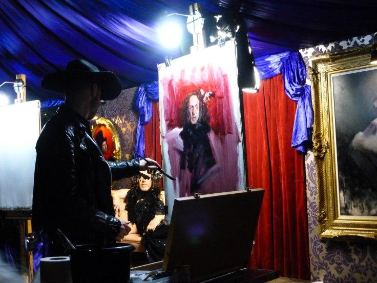 Glastonbury Festival, england, motorhome, life drawing