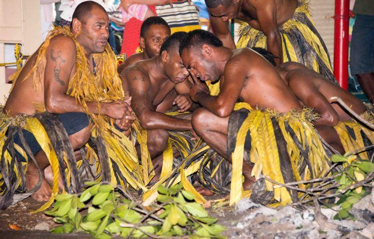 Fiji, hot coals