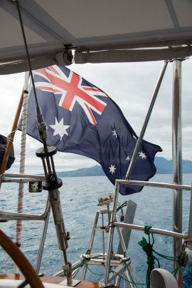 Fiji, Australian flag, sailing