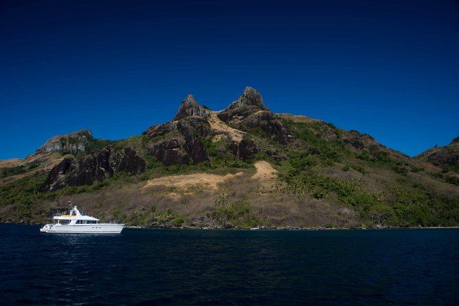 Waya Island, Fiji, sailing