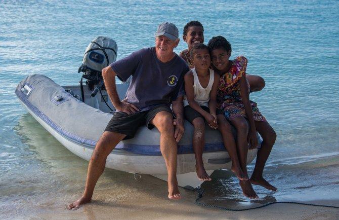 Blue lagoon, Fiji, sailing