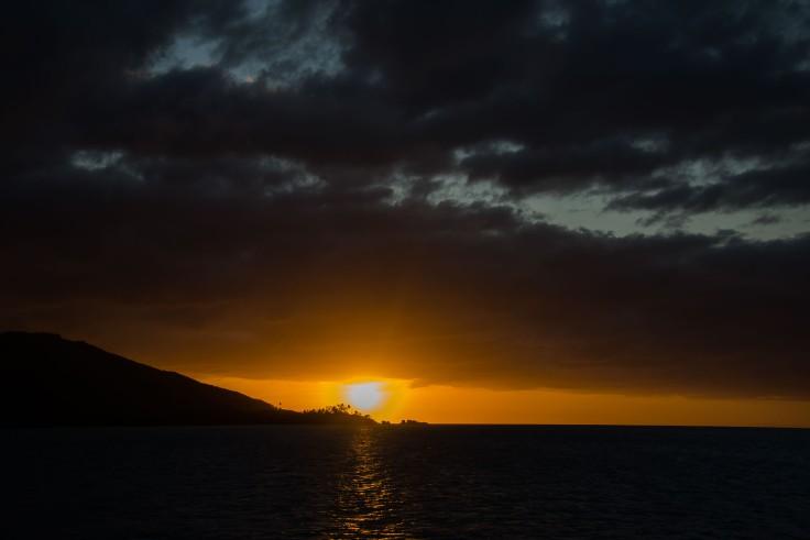 Fiji, sailing, sunset