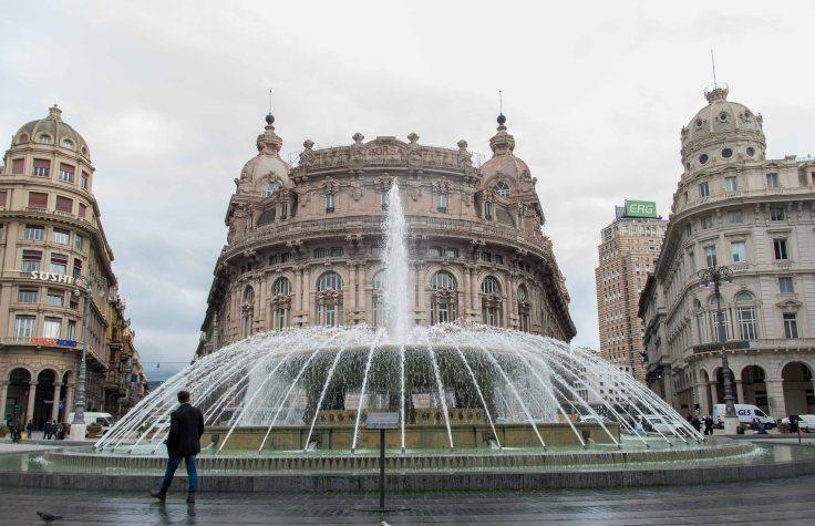 Genoa, Italy, Ferarri Fountain, motorhome
