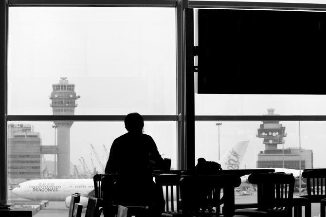airport, waiting