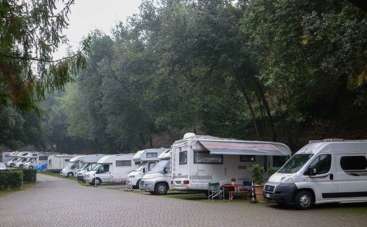 Pegli, Italy, motorhome, campsite