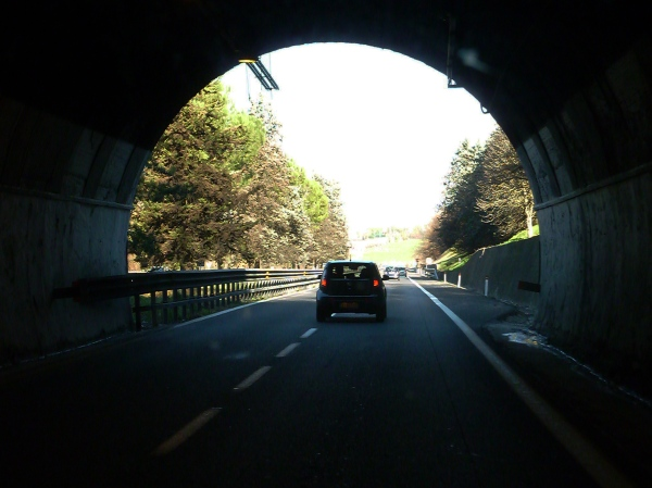 tunnel, Italy, motorhome, camping, GPS