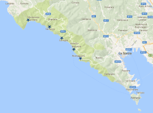 cinqueterre, deiva marina, italy, motorhome, camping